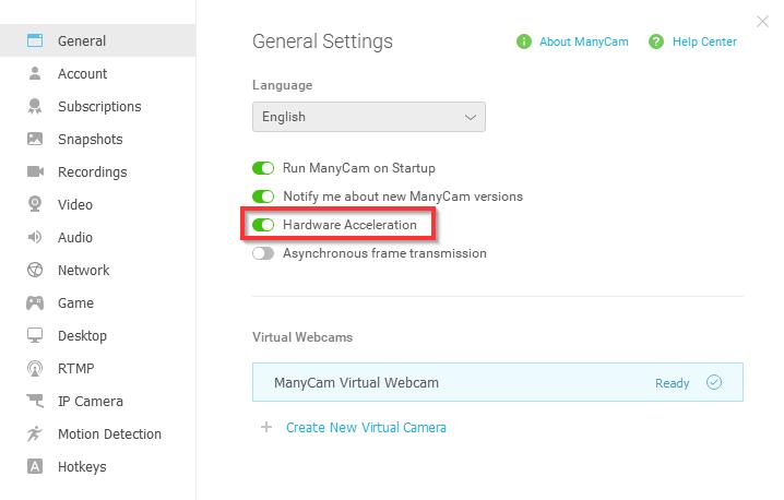 ManyCam Video Settings – Quality & Performance – ManyCam