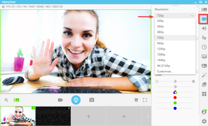 ManyCam Video Settings – Quality & Performance – ManyCam Help and