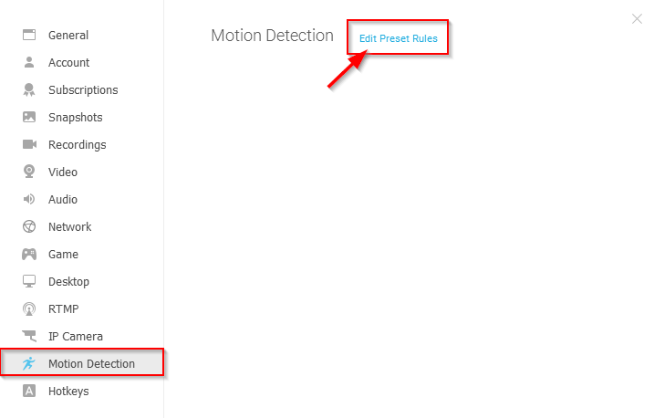 ManyCam Motion Detection feature – ManyCam Help and Support